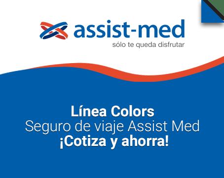 Línea Colors Seguro de viaje Assist Med