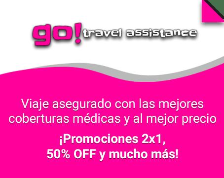 Viaja asegurado con las mejores coberturas médicas y al mejor precio.